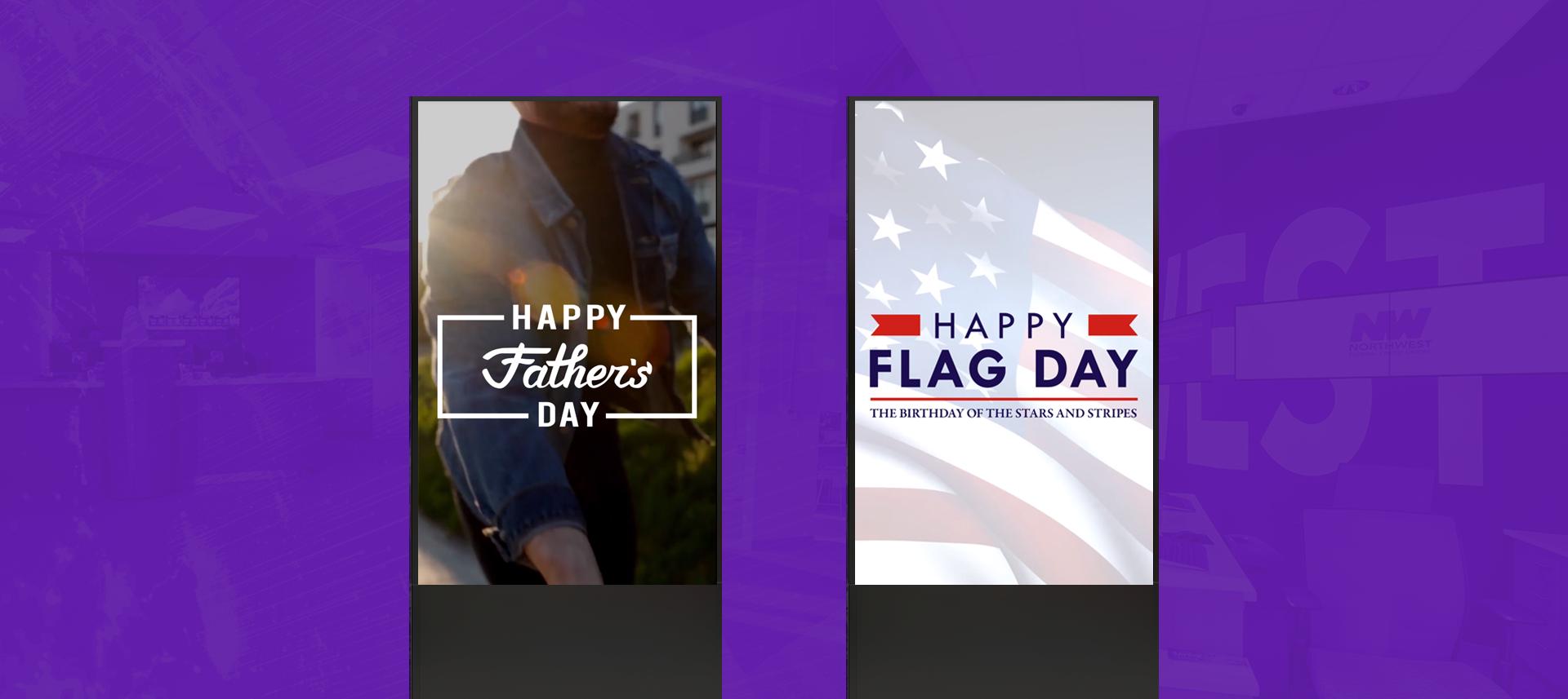 Free Digital Signage Content: June Holidays